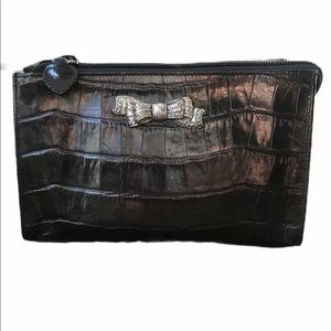 Vintage Brighton black crocodile small bag